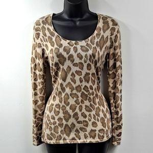 Like New! Chico's Leopard Sweater Sz 0